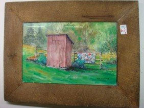 Signed/Numbered STEVE BURDETTE Outhouse Print: