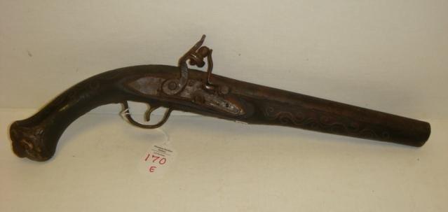 88: 18th Century Turkish Flintlock Pistol: