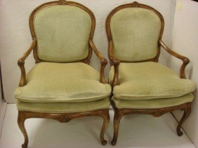 Pair Of Louis XV Fauteuils: