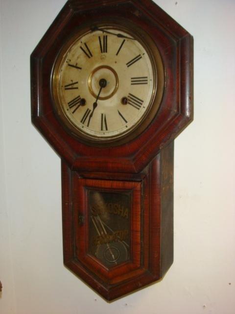 138: SEIKOSHA Japanese Long Drop Regulator Wall Clock: