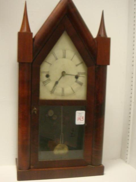 143: ANSONIA Mahogany Steeple Clock: