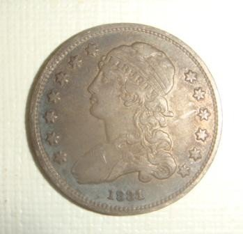 149: US Coin 1831 Capped Bust Quarter: