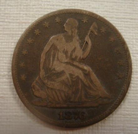 152: US Coin 1876 S Seated Liberty Half Dollar: