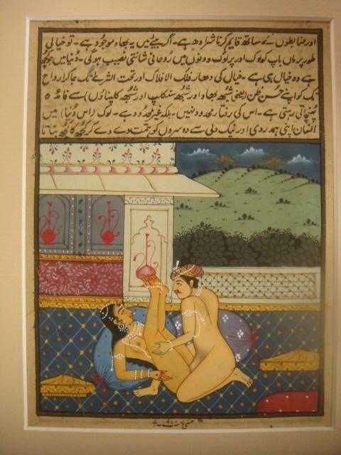 285: Kamasutra Erotic Miniature Painting On Paper: