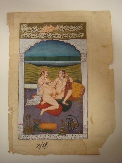289: Kamasutra Erotic Miniature Painting On Paper: