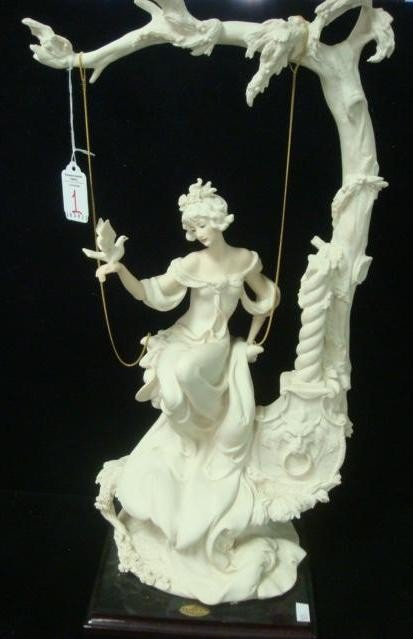 1: GIUSSEPPE ARMANI Girl on Swing Composite Statue: