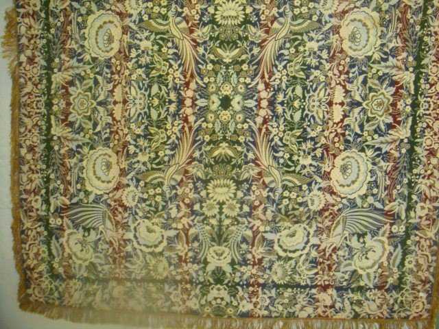 6: Italian Silk Embroidered Vintage Tablecloth: