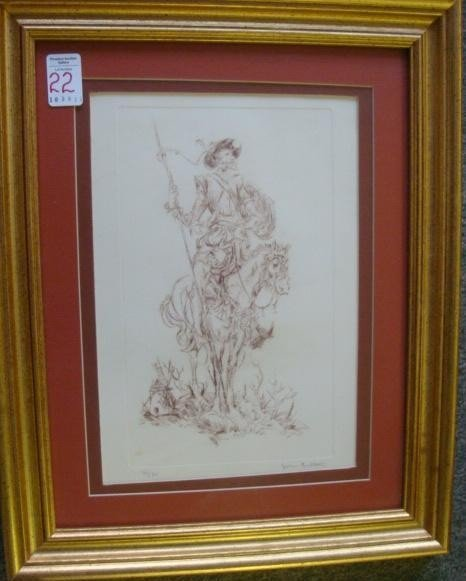22: Signed JOHN FULTON Limited Edition Don Quixote Prin