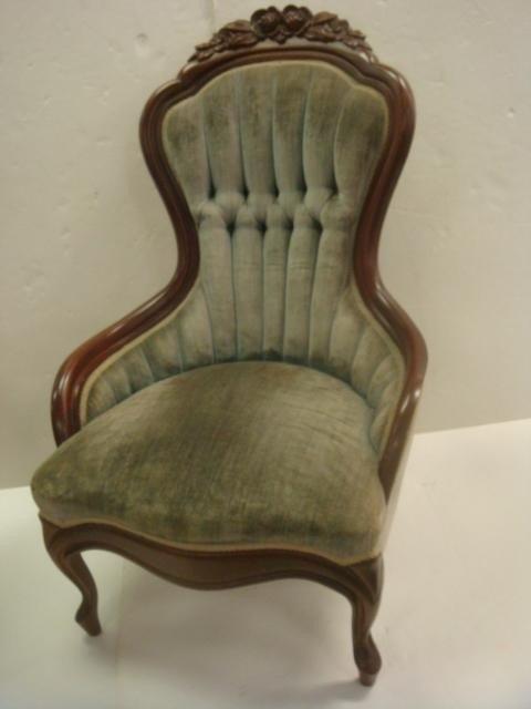 147: Mahogany CARLTON McCLENDON Victorian Ladies' Chair