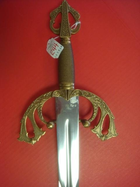 244: EL CID, Spanish Broad Sword with Sword Breaker Gri - 3