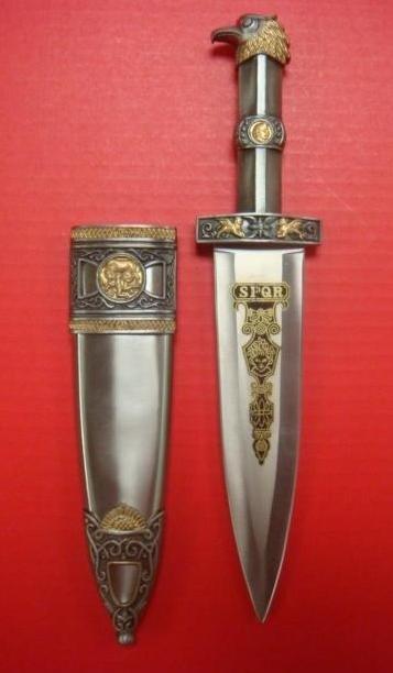 252: SPQR Eagle Head Dagger: