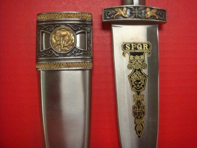 252: SPQR Eagle Head Dagger: - 3