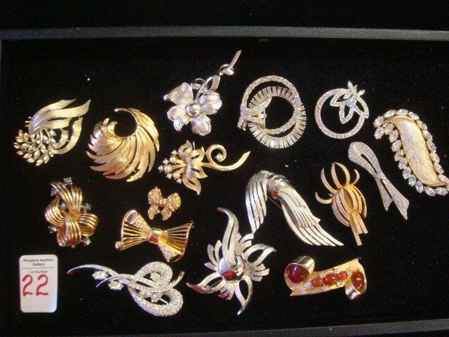 22: LISNER, GIVENCHY and LEDO Brooches:
