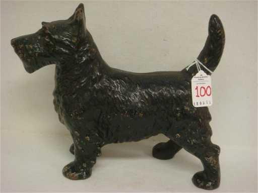 100 Vintage Cast Iron Black Scottie Dog Door Stop
