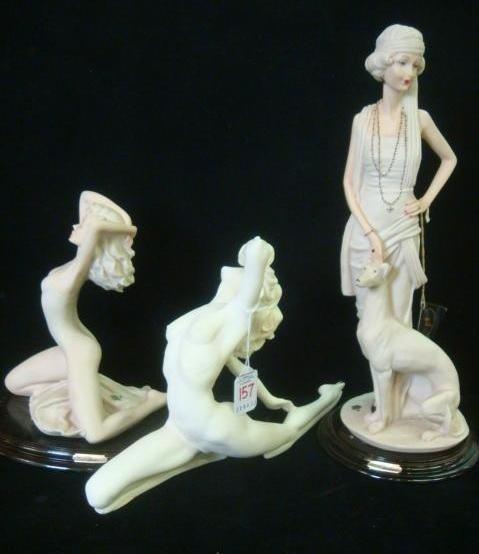 157: Escorpiao De Ouro & Italian Female Compo Figurines
