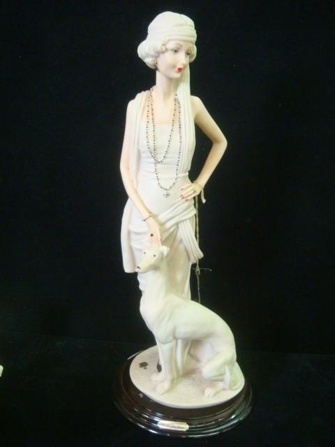 157: Escorpiao De Ouro & Italian Female Compo Figurines - 4