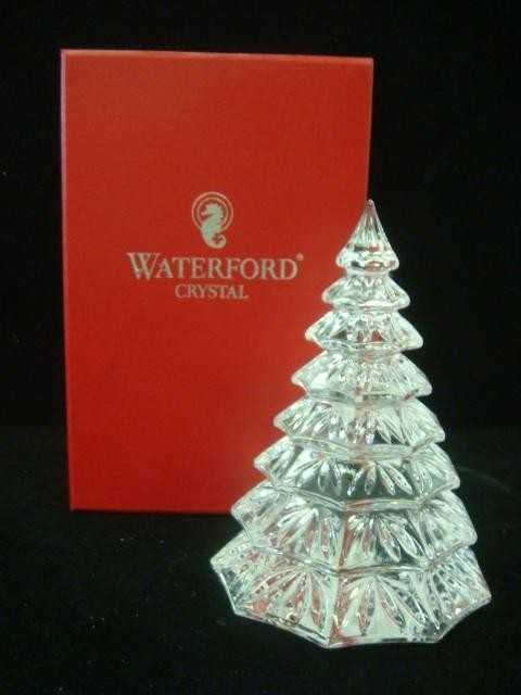 - 308: WATERFORD Lead Crystal Christmas Tree Sculpture: