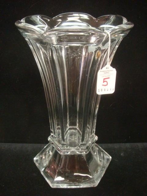 5: HEISEY Colonial Six Sided Flared Top Vase: