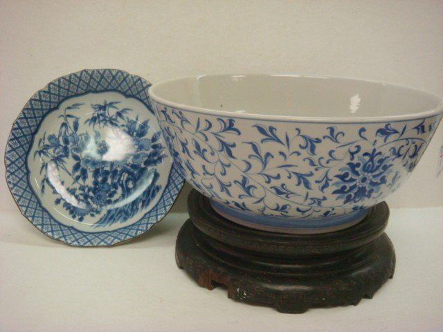7: Two Asian Blue and White Bowls: