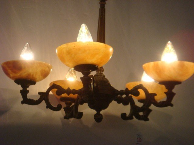 5 arm alabaster chandelier 10 5 arm alabaster chandelier arubaitofo Choice Image