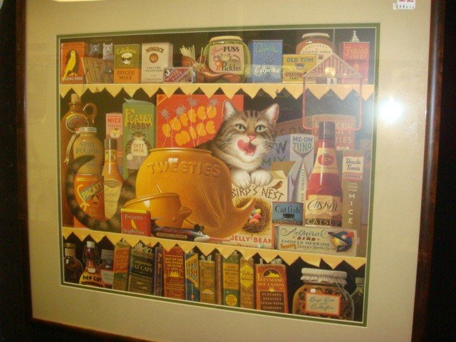 11: Signed, Numbered CHARLES WYSOCKI Cat Print: