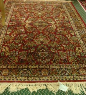 ETHAN ALLEN Worsted Wool Oriental Style Rug: