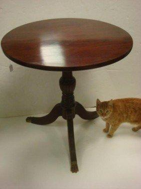 Mahogany Tilt Top Table: