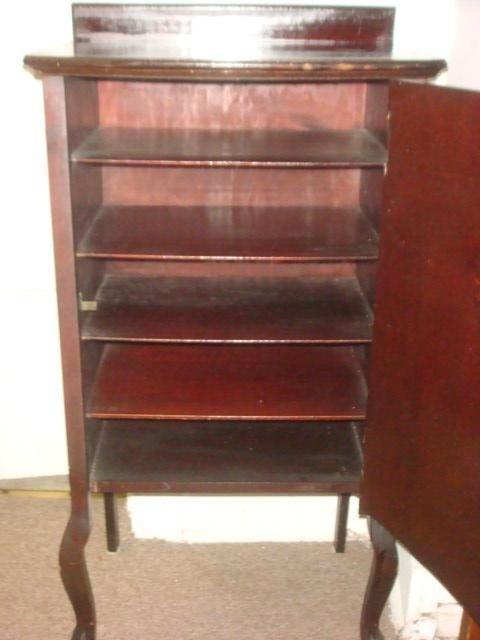 564: LARKIN Mahogany Music Cabinet: - 2