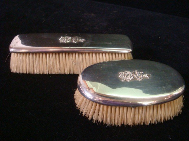 2: Two TIFFANY & CO Sterling Handled Victorian Brushes: