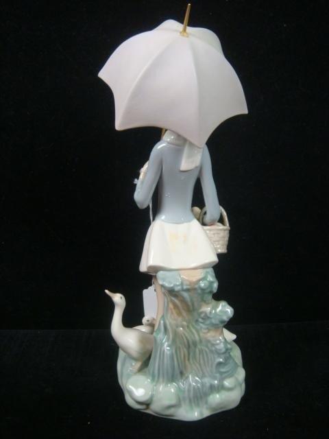 "3: 1977 LLADRO ""Girl with Umbrella"": - 5"