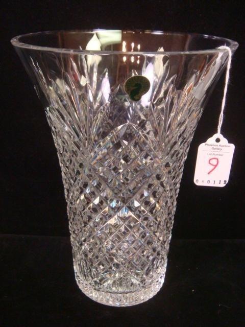 9: WATERFORD Large Crystal Vase: