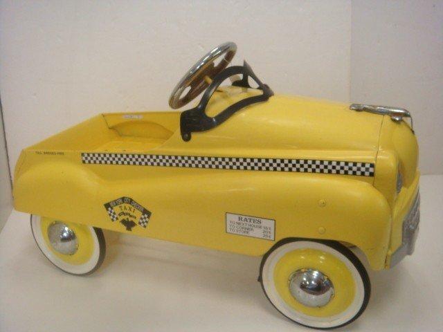 10: Vintage New York Checker Taxi Cab Pedal Car: