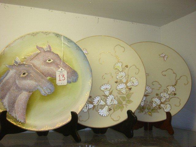 13: Three Coraline Nippon Plaques: