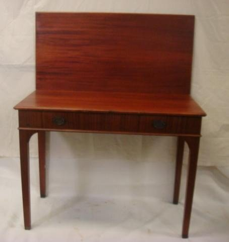 21: Chippendale Style Fold Over Mahogany Game Table: