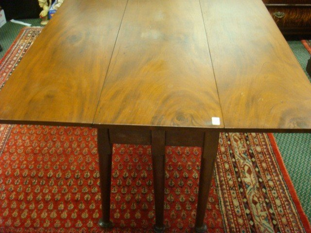 22: 19th C Mahogany Drop Leaf Table:
