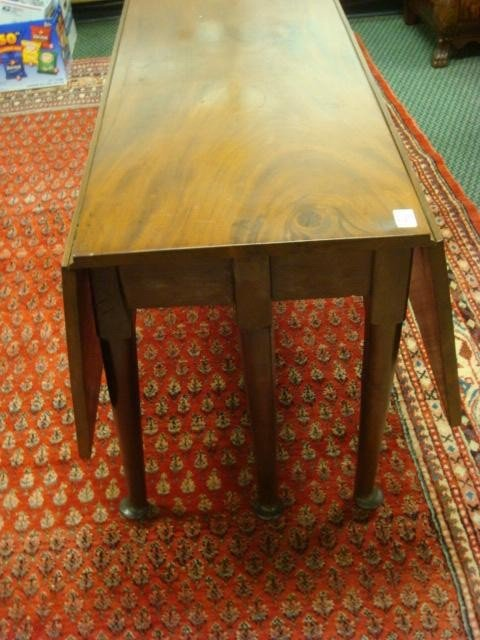 22: 19th C Mahogany Drop Leaf Table: - 2