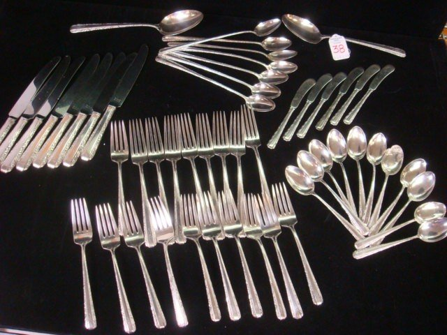 38: TOWLE Candlelight Sterling Silver Flatware, 53 Piec