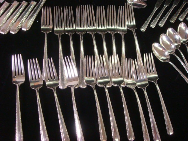 38: TOWLE Candlelight Sterling Silver Flatware, 53 Piec - 3