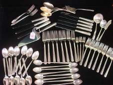 40 TOWLE Rambler Rose Sterling Silver Flatware 53 Pie
