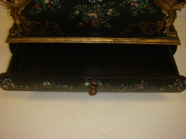 52: Hand Painted Victorian Single Drawer Canterbury: - 2