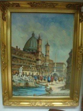 Signed ALDO ZACCARDELLI, St. Marks, Venice, O/C