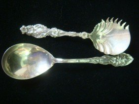 WHITING Lily Sterling Cucumber Server/Sterling Spo