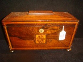 Inlay Marquetry Rosewood Teabox With Micro Mosaic: