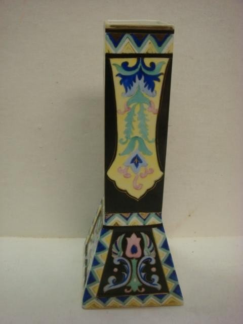153: Hand Painted NIPPON Squared Vase with Flared Foot: