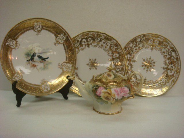 159: Hand Painted NIPPON Plaque, Plates, Noritake Plate