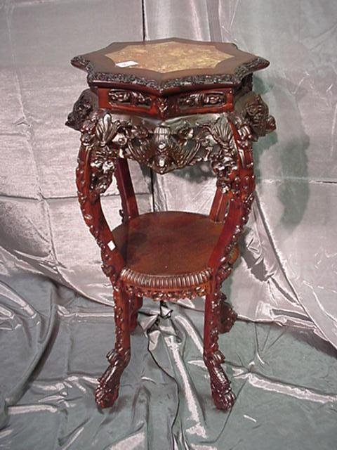 76: Reproduction Carved Rosewood Stand: