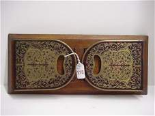 118: 19h C. Boulle Marquetry Expandable Book Rack: