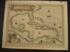176 Joan Blaeu Map INSULA AMERICANA