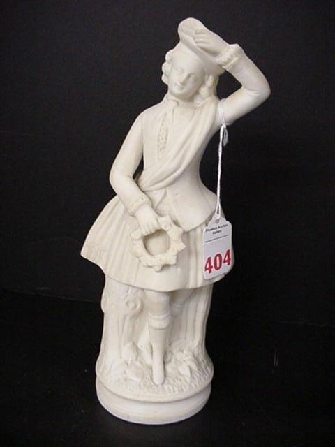 404: Soft Paste Bisque Scottish Dancer Figurine: