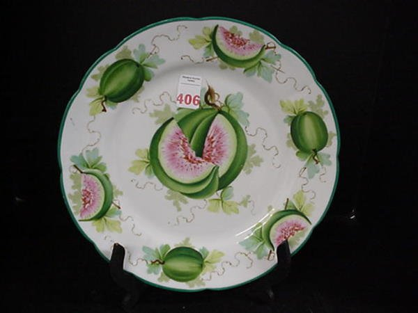 406: Saxe Scalloped Edged Watermelon Charger: